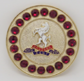 QUEEN'S OWN ROYAL WEST KENT REGIMENT BROACH / BROOCH (GRS)